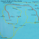 Map of Great Wall of Chu State