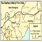 Map of northern wall of Yan state