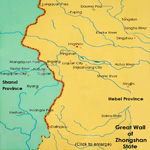 Map of Great Wall of Zhongshan State