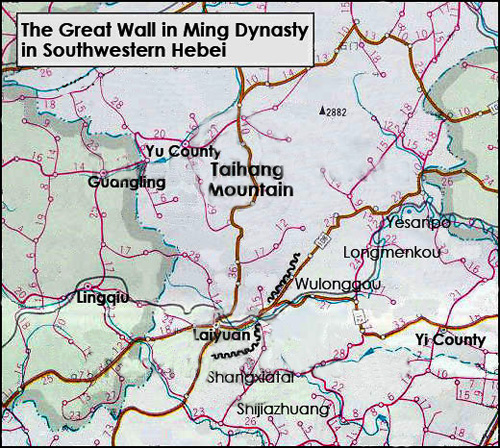 Southwest Hebei Great Wall Map