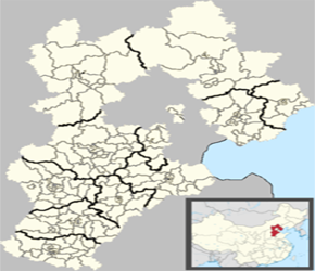 The Location of Anping in China Map