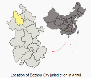 The Location of Bozhou in China Map