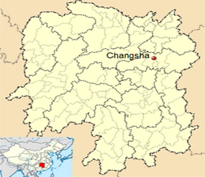 The Location of Changshain China Map