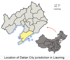 The Location of Dalianin China Map
