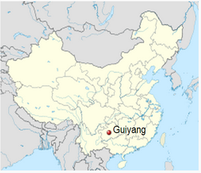The Location of Guiyangin China Map