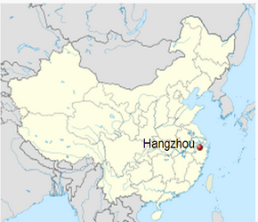 The Location of Hangzhouin China Map