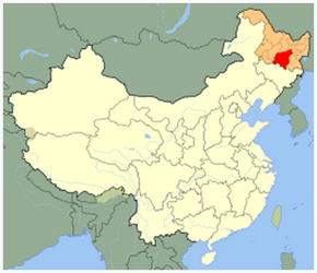 The Location of Harbinin China Map