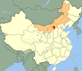 The Location of Hohhotin China Map