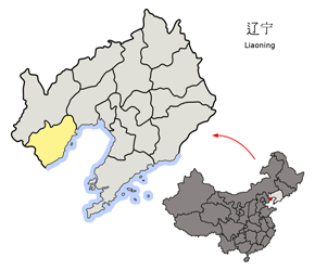 The Location of Huludao in China Map