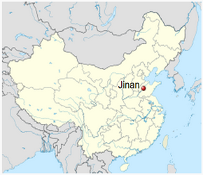 The Location of Jinanin China Map
