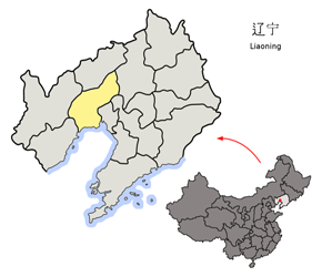 The Location of Jinzhou in China Map