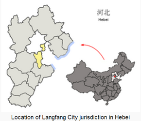 The Location of Langfangin China Map