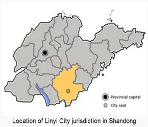 The Location of Linyiin China Map