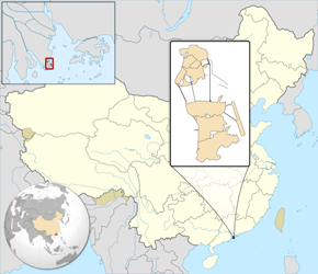 The Location of Macauin China Map