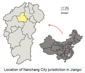 The Location of Nanchang in China Map