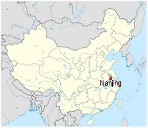The Location of Nanjingin China Map