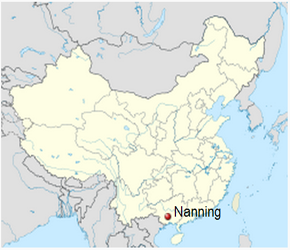 The Location of Nanningin China Map