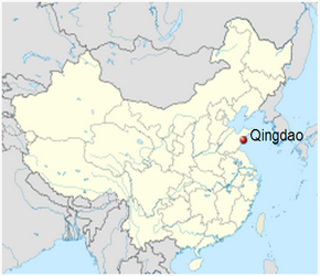 The Location of Qingdaoin China Map