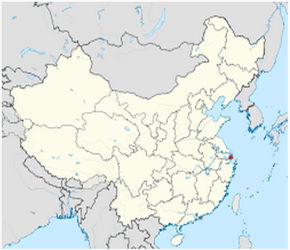 The Location of Shanghaiin China Map