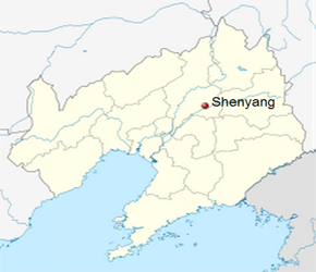 The Location of Shenyangin China Map