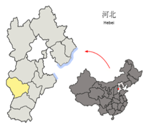 The Location of Shijiazhuangin China Map