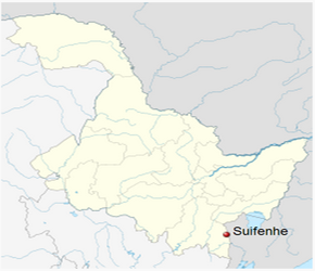 The Location of Suifenhein China Map