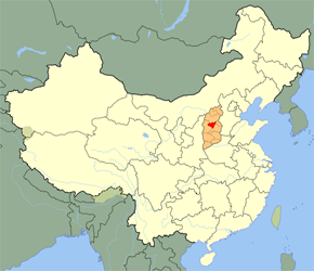 The Location of Taiyuanin China Map