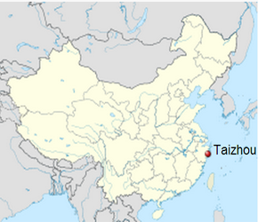 The Location of Taizhouin China Map