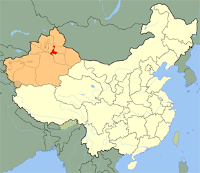 The Location of Urumqi in China Map