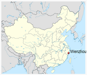 The Location of Wenzhouin China Map