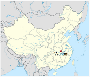 The Location of Wuhanin China Map