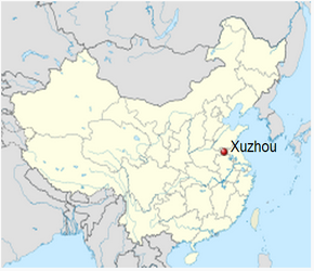 The Location of Xuzhou in China Map