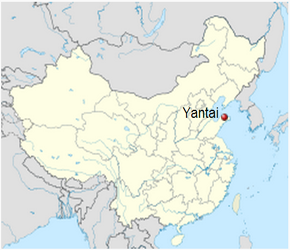 Exhibitions In Yantai Shandong China - Yantai map