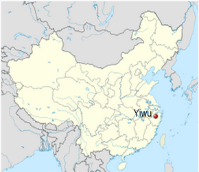 The Location of Yiwuin China Map