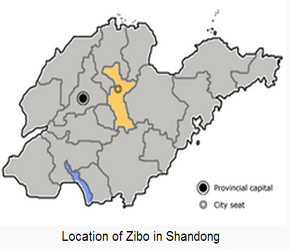 The Location of Ziboin China Map