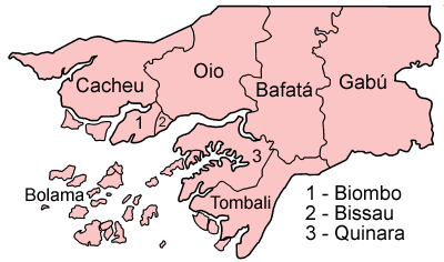 Guinea-Bissau Administrative divisions Map