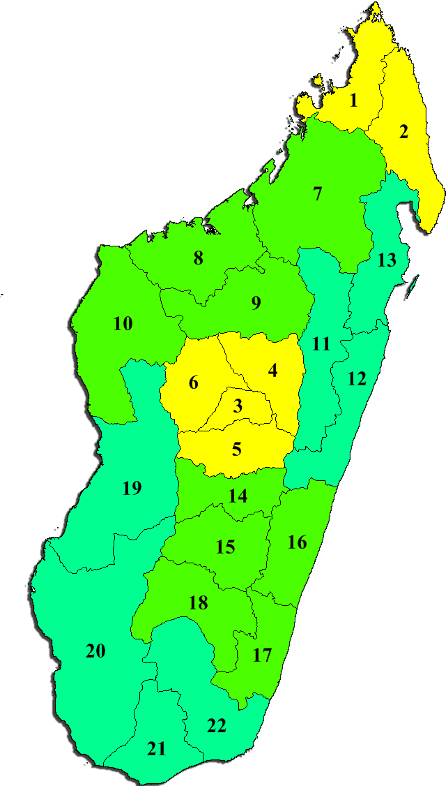 Madagascar Administrative divisions Map