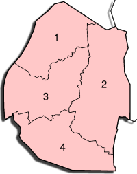 Swaziland Administrative divisions Map
