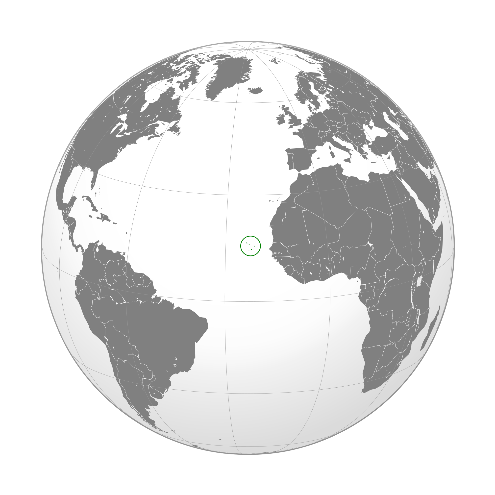 Where Is Cape Verde Located On The World Map.Location Of The Cape Verde In The World Map