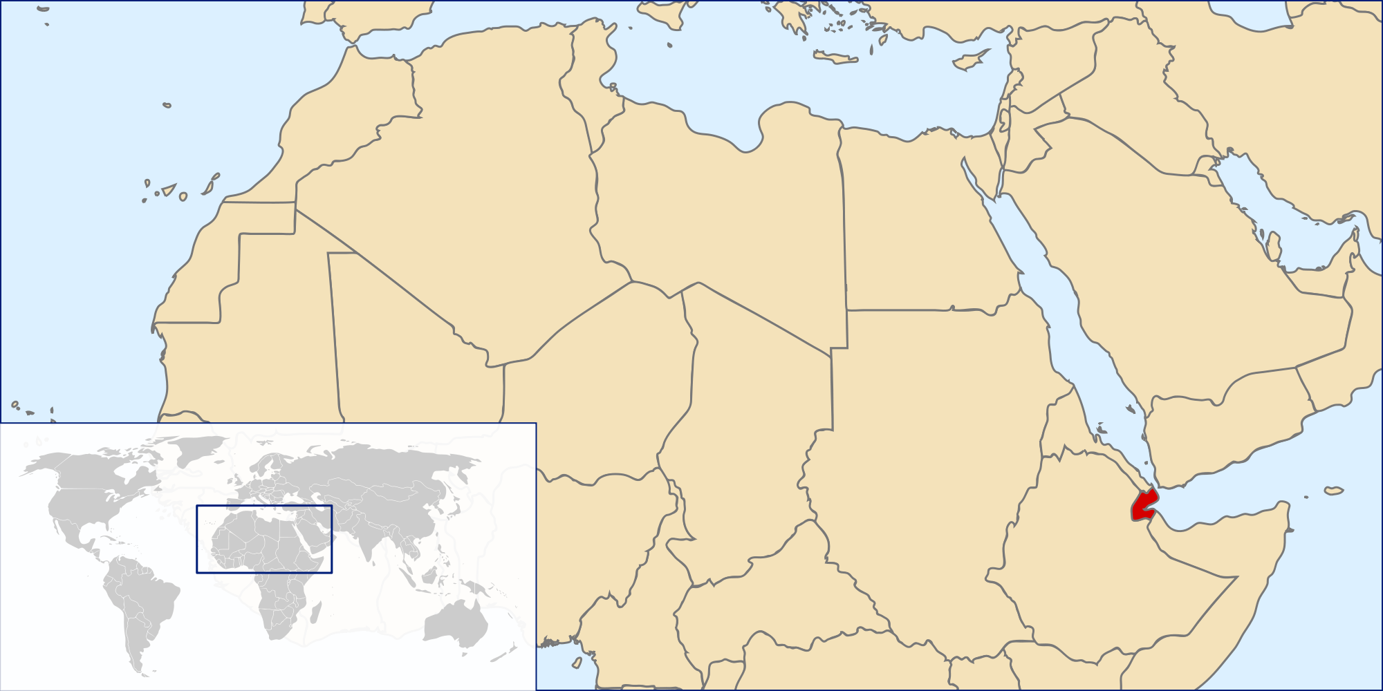 Location Of The Djibouti In The World Map - Djibouti map