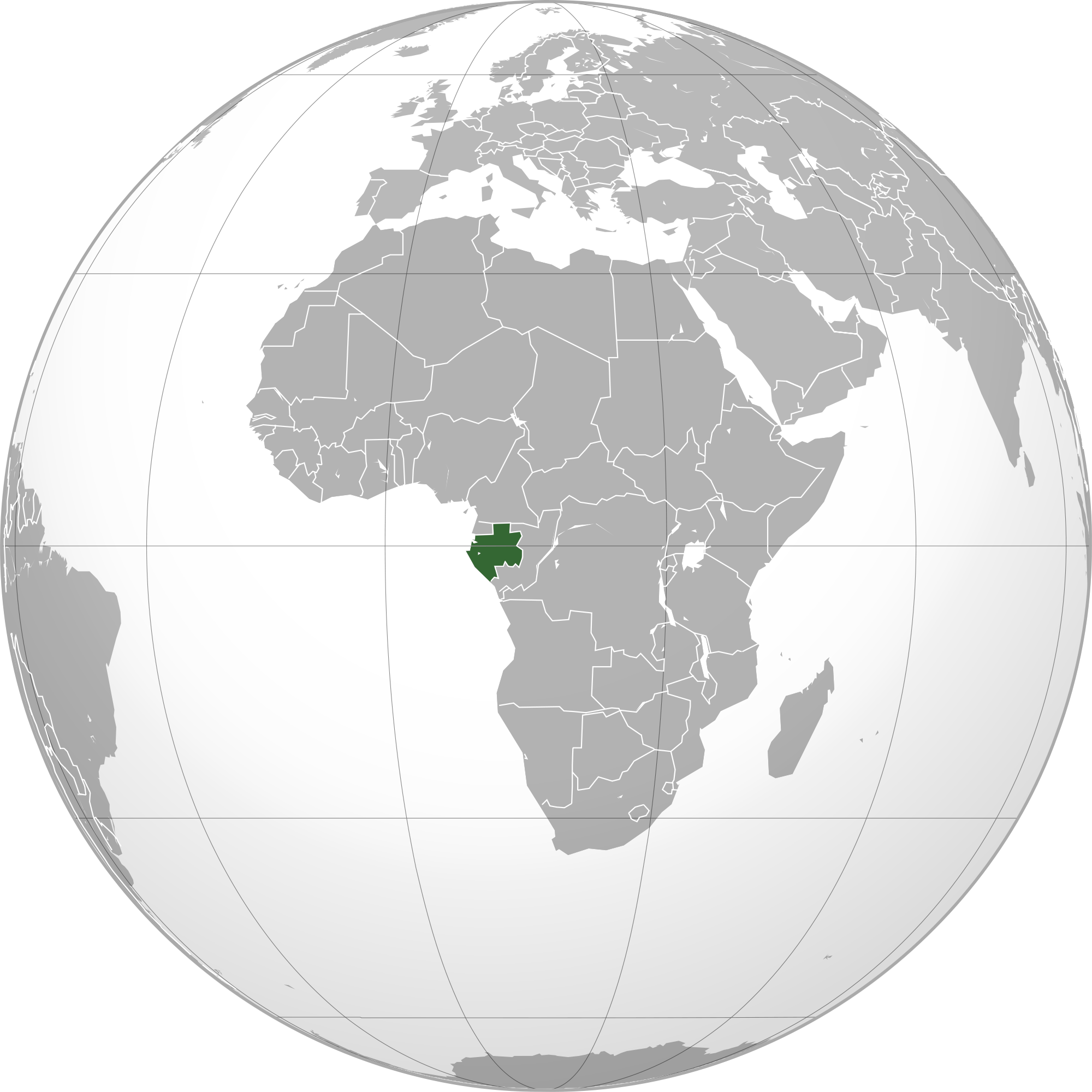 Gabon World Map.Location Of The Gabon In The World Map