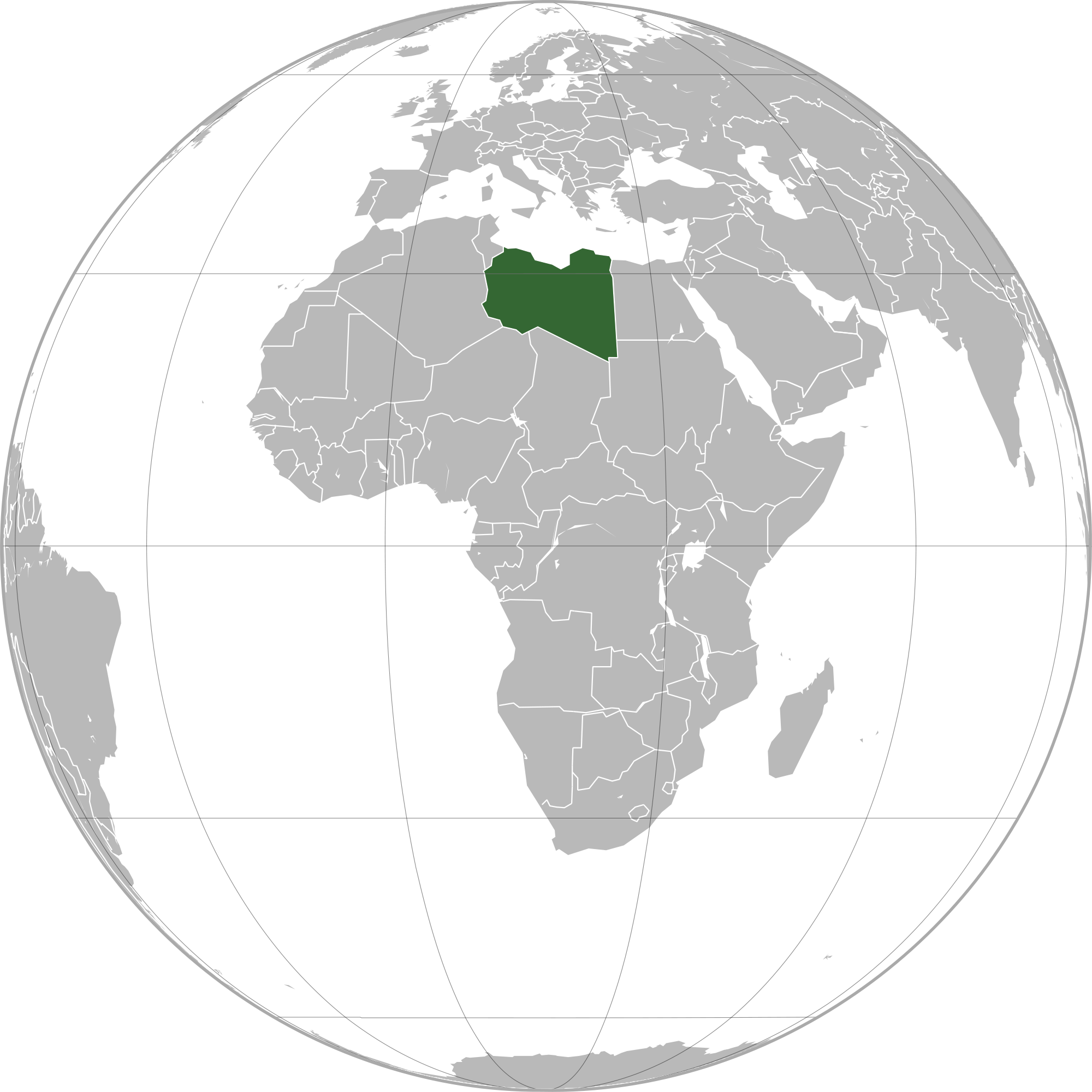 Location of the Libya in the World Map