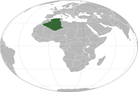 Algeria Location in World Map