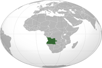 Angola Location in World Map