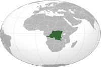 D.R.Congo Location in World Map