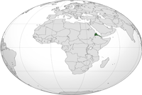 Eritrea Location in World Map