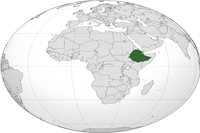 Ethiopia Location in World Map