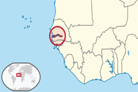 Gambia Location in World Map