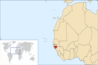 Guinea-Bissau Location in World Map