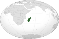 Madagascar Location in World Map